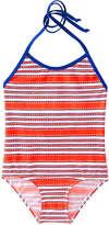 Joe Fresh Kid Girls' x lemlem One Piece Swimsuit, Orange (Size M)