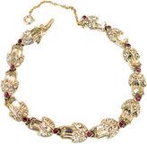 One Kings Lane Vintage Bogoff Rhodium & Crystal Bracelet