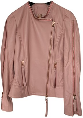 Thomas Wylde Pink Leather Jacket for Women