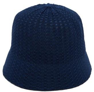 Reinhard Plank Hats - Mucin Termo Knitted-cotton Bucket Hat - Navy