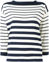Moncler striped top - women - Nylon/Viscose - S