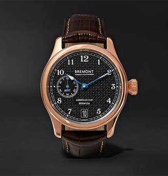 Bremont Ac35 America's Cup 43mm Rose Gold And Alligator Watch, Ref. No. Ac35
