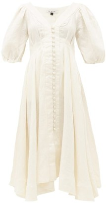 Fil De Vie - Casablanca Handkerchief-hem Linen Dress - Womens - Cream