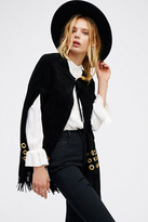 Womens BACKSTAGE SUEDE CAPE