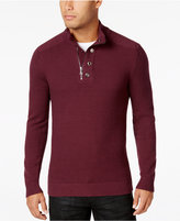 INC International Concepts Men's Bankman Quarter-Zip Eyelet Sweater, Only at Macy's