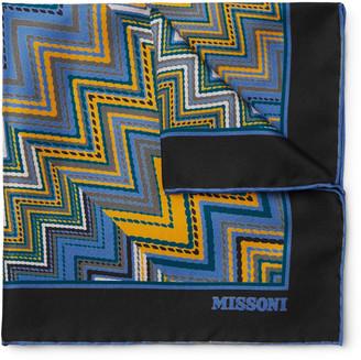 Missoni Printed Silk-Twill Pocket Square