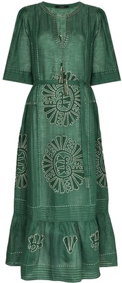 Vita Kin Camelia embroidered linen dress