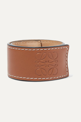 Loewe Embossed Leather Bracelet - Tan