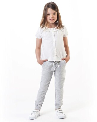 Carrément Beau Girls Grey French Terry Trousers