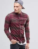 Element Buffalo Check Flannel Shirt In Regular Fit In Napa Red Buttondown