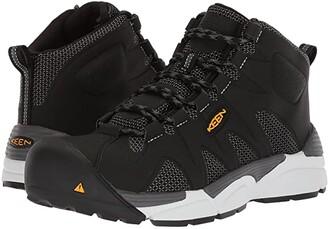 Keen San Antonio Mid Aluminum Toe (Black/Silver) Men's Work Boots