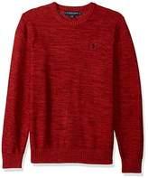 U.S. Polo Assn. Men's MARL Reverse Jersey Crew Neck Sweater