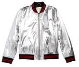 Tucker + Tate Girl's Metallic Bomber Jacket