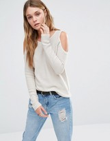 Only Cold Shoulder Knit Sweater