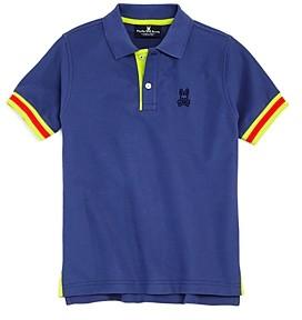 Psycho Bunny Boys' Savoy Neon Trim Polo Shirt - Little Kid Big Kid