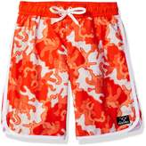Big Chill Boys Scallop Short Camo Swim Trunk Rashguard