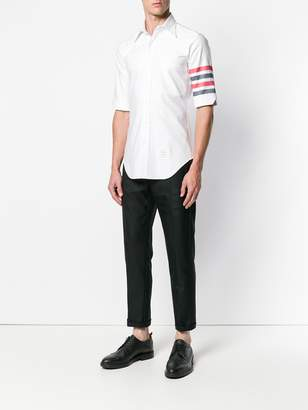 Thom Browne 4-Bar Solid Oxford Shirt