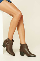 Forever 21 Faux Leather Belted Booties