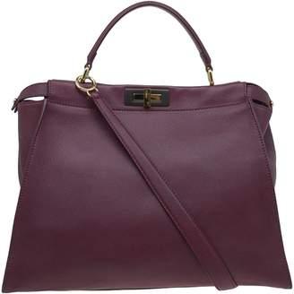 Fendi Peekaboo Burgundy Leather Handbags