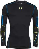 Under Armour Mens ColdGear Armour Graphic Long Sleeve Compression Top Black