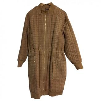 Balmain Camel Suede Coat for Women