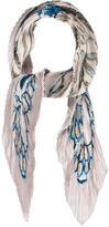 Hermes Céramique Ottomane Silk Plissé Scarf