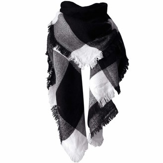 Chalier Winter Ladies Scarves Shawl Oversized Ladies Tartan Checked Scarf Blanket Christmas Gifts for Women