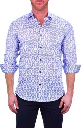 Maceoo Einstein Flipper White Button-Up Shirt