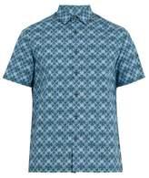 Prada Digital Floral-print Cotton-poplin Shirt
