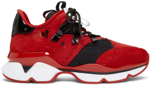the latest a9be3 33ac8 Red and Black Red-Runner Flat Sneakers