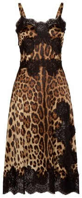 Dolce & Gabbana Leopard Print Slip Dress