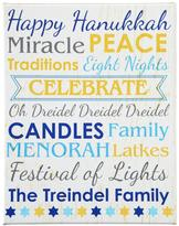 """Personal Creations Personalized All About Hanukkah Canvas - 16""""W x 20""""H"""