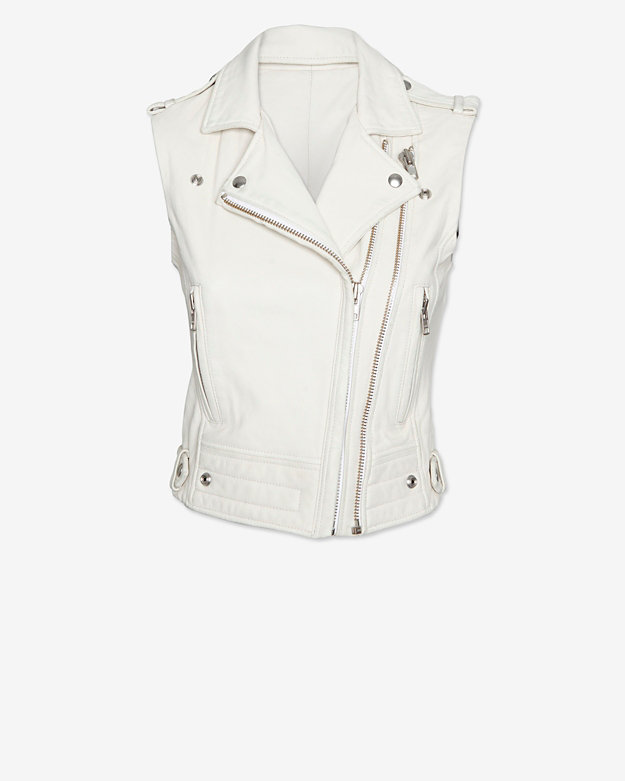 IRO Suga Leather Vest: White