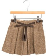 Bonpoint Girls' Metallic Wool Skirt