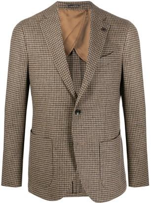 Lardini houndstooth fitted blazer