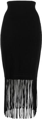 Issey Miyake High-Waisted Fringed Hem Skirt