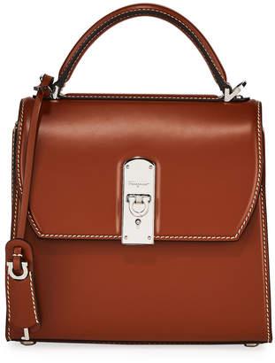 Salvatore Ferragamo The Boxyz Smooth Top-Handle Bag