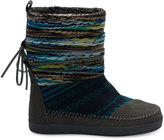Toms Forged Iron Grey Suede Textile Mix Women's Nepal Boots