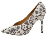 Isabel Marant Embossed Leather Pointed-Toe Pumps
