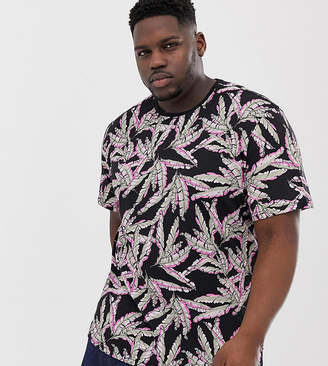 ONLY & SONS floral print t-shirt in black