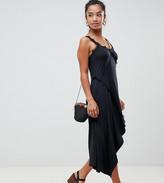 Asos DESIGN Petite lace insert slinky slip dress