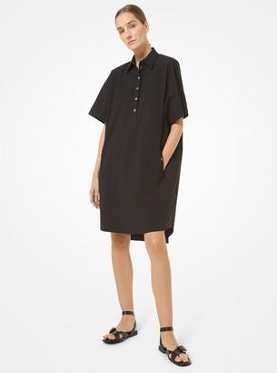 Michael Kors Collection Organic Stretch Cotton Poplin Shirtdress
