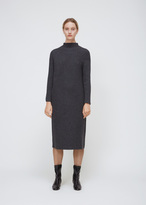 Oyuna Graphite Cashmere Wool Chunky Knit Dress