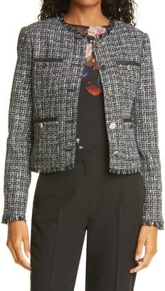 Ted Baker Klaudi Metallic Boucle Tweed Jacket