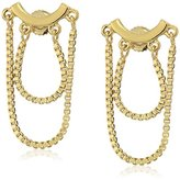 Trina Turk Basics Chain Gold Stud Earrings