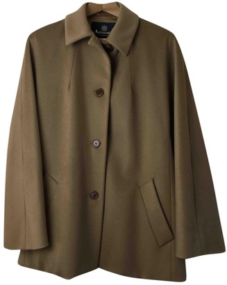 Aquascutum London Camel Wool Coats