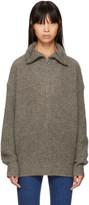 Etoile Isabel Marant Beige Declan Zip Sweater
