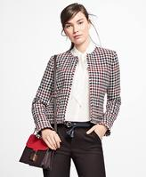 Brooks Brothers Wool-Blend Houndstooth Jacket