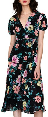 Yumi Kim Midnight Love Floral Midi Dress