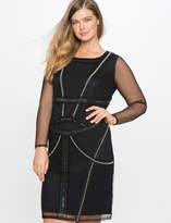 ELOQUII Studio Pearl Embellished Dress